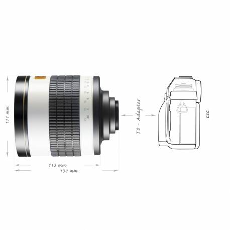 Lenses - walimex pro 800/8,0 DSLR Mirror Canon EF white - quick order from manufacturer