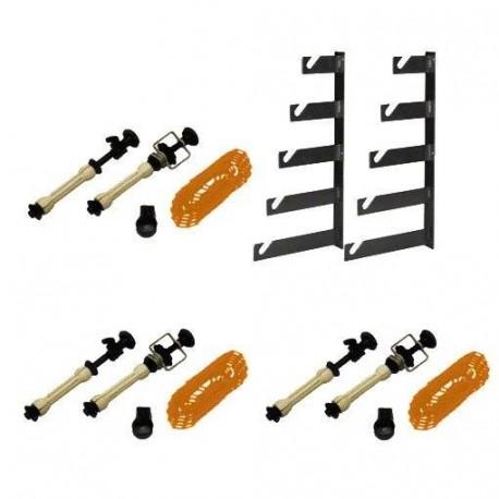 Background holders - walimex 5-fold Background Assembling Set, set of 3 - quick order from manufacturer