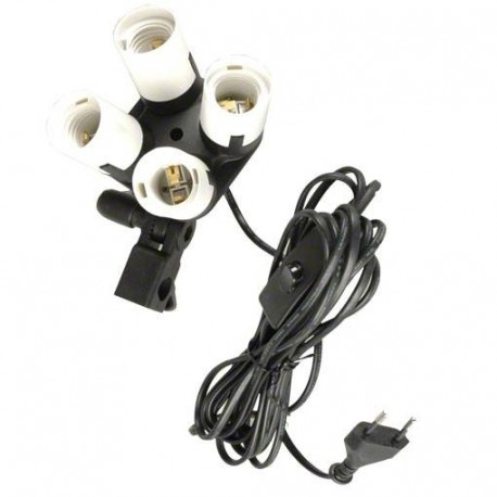 Fluorescent - walimex 4-fold Lamp Holder - quick order from manufacturer