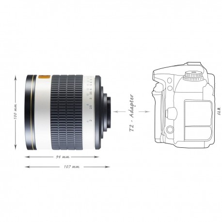 Lenses - walimex pro 500/6,3 DX DSLR Mirror M42 white - quick order from manufacturer
