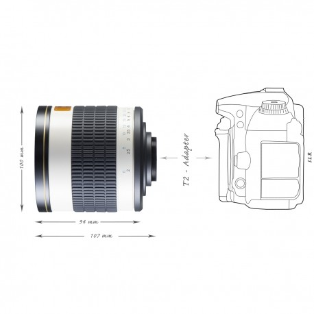 Lenses - walimex pro 500/6,3 DSLR Mirror Nikon F white - quick order from manufacturer