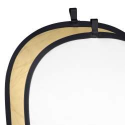 Saliekamie atstarotāji - walimex 2in1 Foldable Reflector gold/white - ātri pasūtīt no ražotāja
