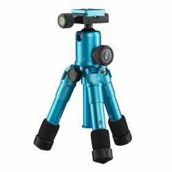 Mini tripods - Mini Tripod for camera Mantona Kaleido 21184 - Ocean Blue Metallic - quick order from manufacturer