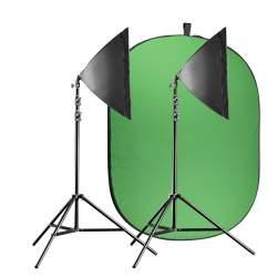 Foto foni - walimex pro Video Greenscreen Set Beginner flexi - ātri pasūtīt no ražotāja