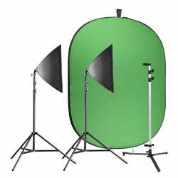 Foto foni - walimex pro Video Greenscreen Set Beginner - ātri pasūtīt no ražotāja