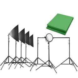 комплект освещения с фоном - walimex pro Video Greenscreen Set Pro - быстрый заказ от производителя