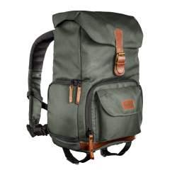 Mugursomas - mantona photo backpack Luis junior green, retro - perc šodien veikalā un ar piegādi