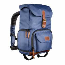Mugursomas - mantona photo backpack Luis junior blue, retro - perc šodien veikalā un ar piegādi