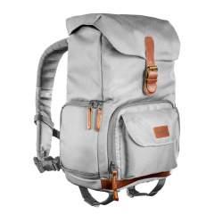 Mugursomas - mantona photo backpack Luis junior grey, retro - perc šodien veikalā un ar piegādi