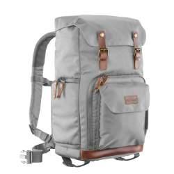 Mugursomas - mantona photo backpack Luis grey, retro - perc šodien veikalā un ar piegādi