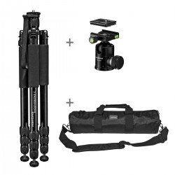 Photo tripods - mantona Wolverine L-12 tripod with ball head + bag - quick order from manufacturer