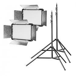 LED Paneļi - walimex pro LED 500 Versalight Bi Color Set2 - ātri pasūtīt no ražotāja