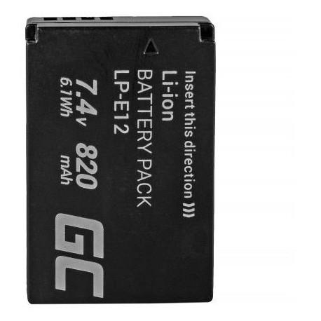 Зарядные устройства - Battery LP-E12 for Canon EOS M, 100D, Rebel SL1 875mAh, - akumulators, baterija - купить сегодня в магазине и с доставкой