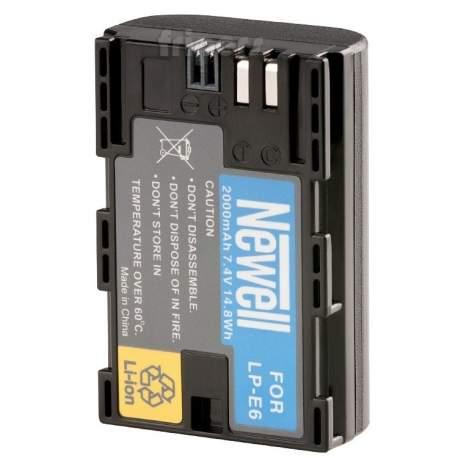 Kameru akumulatori - Akumulators Newell LP-E6 baterija priekš Canon EOS 5D Mark III, 6D, 7D, 60D, 70D battery 2000mAh - perc šodien veikalā un ar piegādi