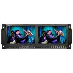 LCD мониторы для съёмки - Boland BRMO9x2 9inch Dual Monitors for 19inch Rack System - быстрый заказ от производителя