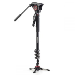 Monopods - Manfrotto XPRO 4 section video monopod w Fluid head & FLUIDTECH base (MVMXPRO500) - quick order from manufacturer