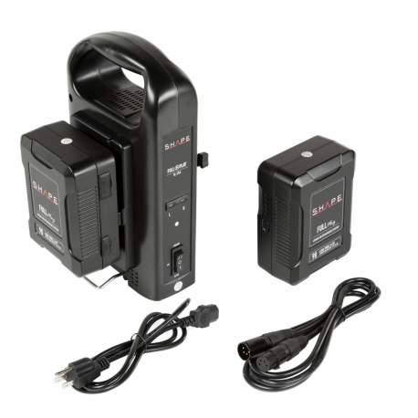 V-Mount аккумуляторы - Shape 2 x V-Mount Battery + Dual Battery Charger (2V98PW) - быстрый заказ от производителя