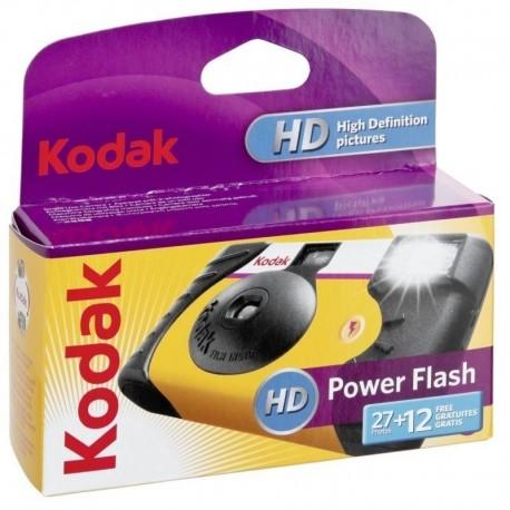 Filmu kameras - KODAK POWER FLASH 27+12 VIENREIZĒJAS LIETOŠANAS FOTOAPARĀTS - купить сегодня в магазине и с доставкой