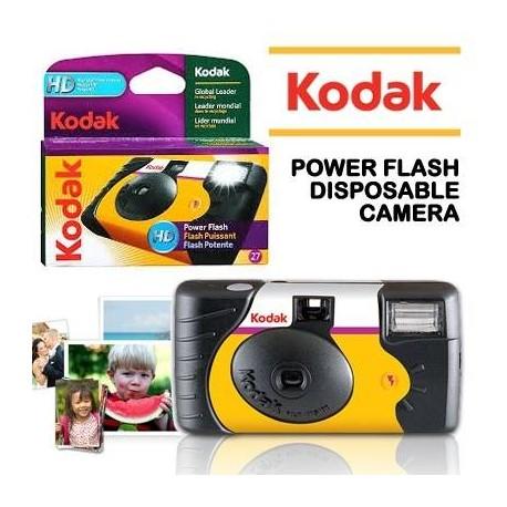 Filmu kameras - KODAK POWER FLASH 27+12 VIENREIZĒJAS LIETOŠANAS FOTOAPARĀTS - perc šodien veikalā un ar piegādi