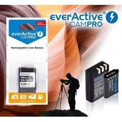 Kameras akumulatori un gripi - everActive CamPro EVB013 (EN-EL14) 1100mAh 7.4V 8.1Wh Li-Ion akumulators Nikon fotokamerai - perc veikalā un ar piegādi