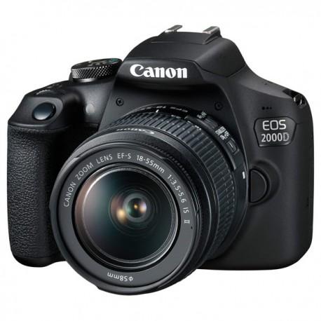 Spoguļkameras - Canon EOS 2000D + EF-S 18-55 IS II - ātri pasūtīt no ražotāja