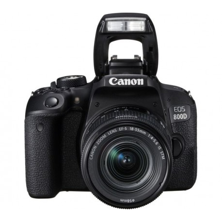 Spoguļkameras - Canon EOS 800D Digital SLR with 18-55 IS STM Lens Black - ātri pasūtīt no ražotāja