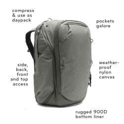 Mugursomas - Peak Design Travel Backpack 45L, black - perc šodien veikalā un ar piegādi