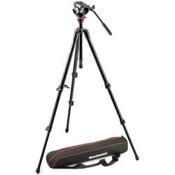 Video Lighting & Accessories - Manfrotto 755XBK video tripod + MVH500AH fluid head - Rent