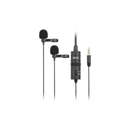 Mikrofoni - Dual Lavalier microphone for Smartphone, DSLR, Camcorders, PC - perc veikalā un ar piegādi