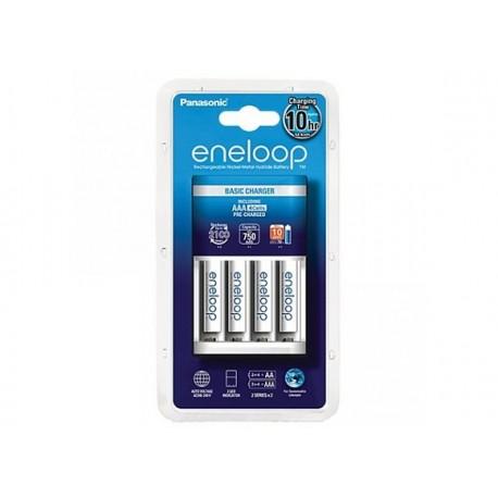 Baterijas, akumulatori un lādētāji - Basic Charger Panasonic ENELOOP K-KJ51MCC04E (4xAA) - perc šodien veikalā un ar piegādi