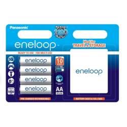 Baterijas, akumulatori un lādētāji - Rechargeable batteries Panasonic ENELOOP BK-3MCCE/4BE (4xAA) w/BOX - perc šodien veikalā un ar piegādi