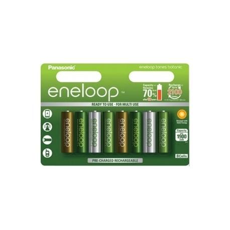 Kameras akumulatori un gripi - Panasonic ENELOOP BK-4MCCE/8TE (8xAAA) Botanic - perc veikalā un ar piegādi