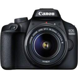Photo DSLR Cameras - Canon EOS 4000D + 18-55mm III Kit, black - buy today in store and with delivery