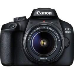 Зеркальные фотоаппараты - Canon EOS 4000D + 18-55mm III Kit, black - купить сегодня в магазине и с доставкой