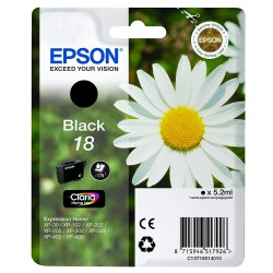 Printers and accessories - Epson 18 BK Ink cartridge, Black - quick order from manufacturer