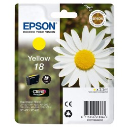 Printers and accessories - Epson 18 Ink Cartridge, Yellow - quick order from manufacturer