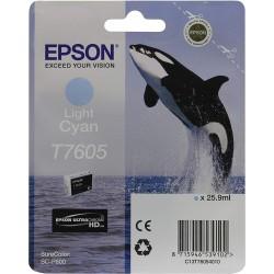 Printeri - Epson T7605 Ink Cartridge, Light Cyan - ātri pasūtīt no ražotāja