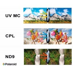 Lenses - POLAROID FILTER KIT 58MM UV MC, CPL, ND9 - quick order from manufacturer
