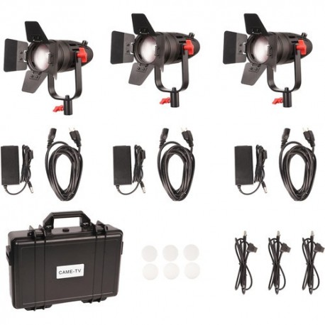 Video LED - CAME-TV Boltzen 30w Bi-Color Fresnel 3 Pc set Fanless Focusable LED With Bag - perc veikalā un ar piegādi