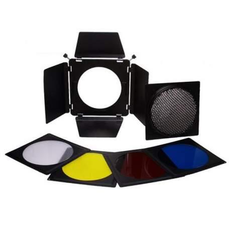 Рефлекторы - Falcon Eyes Barndoor Set, Honeycomb Grid and Filters SFA-BHC - быстрый заказ от производителя