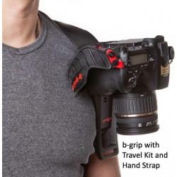 Siksniņas un turētāji - B-Grip TK mugursomas siksna kamerai+ūdensnecaurlaidīgs apvalks BG-1001 travel - perc šodien veikalā un ar piegādi