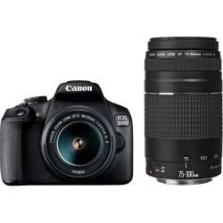 Spoguļkameras - Canon EOS 2000D + 18-55mm IS + 75-300mm Kit - ātri pasūtīt no ražotāja