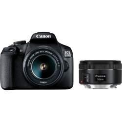 Spoguļkameras - Canon EOS 2000D + 18-55mm IS + 50mm Kit - ātri pasūtīt no ražotāja