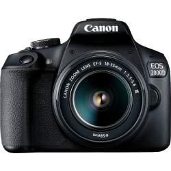 Spoguļkameras - Canon EOS 2000D + 18-55mm III Kit, melns 2728C002 - perc šodien veikalā un ar piegādi