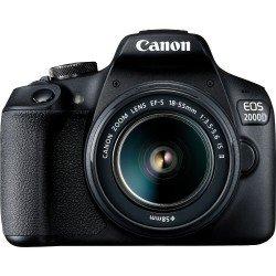 Spoguļkameras - Canon EOS 2000D + 18-55mm IS II Kit, black 2728C003 - купить сегодня в магазине и с доставкой