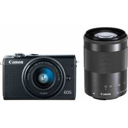 Mirrorless cameras - Canon EOS M100 + EF-M 15-45mm + 55-200mm IS STM, black - quick order from manufacturer