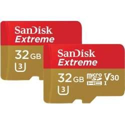 Atmiņas kartes - SanDisk карта памяти microSDHC 32GB Extreme Action 2 шт - быстрый заказ от производителя