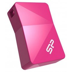 Zibatmiņas - Silicon Power флэшка 16GB Touch T08, розовая - быстрый заказ от производителя