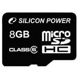 Memory cards - Silicon Power memory card microSDHC 8GB Class 6 - quick order from manufacturer