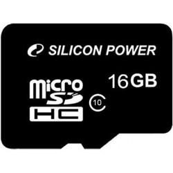 Atmiņas kartes - Silicon Power atmiņas karte microSDHC 16GB Class 10 - ātri pasūtīt no ražotāja